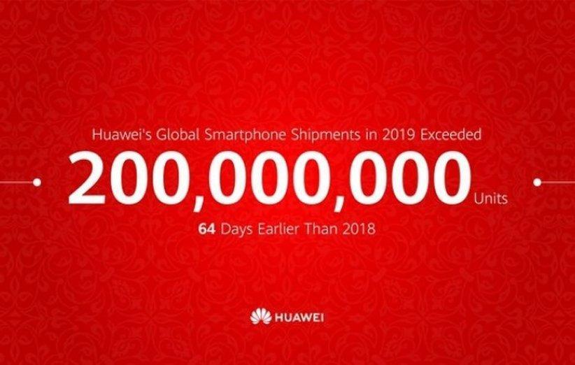 فروش گوشی های هوشمند هواوی از مرز 200 میلیون عبور کرد