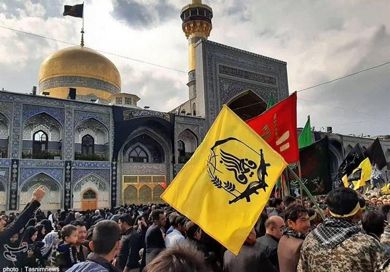 حضور هیئت رزمندگان فاطمیون و مهاجرین افغانستانی مشهد در عزای امام مهربانی ها