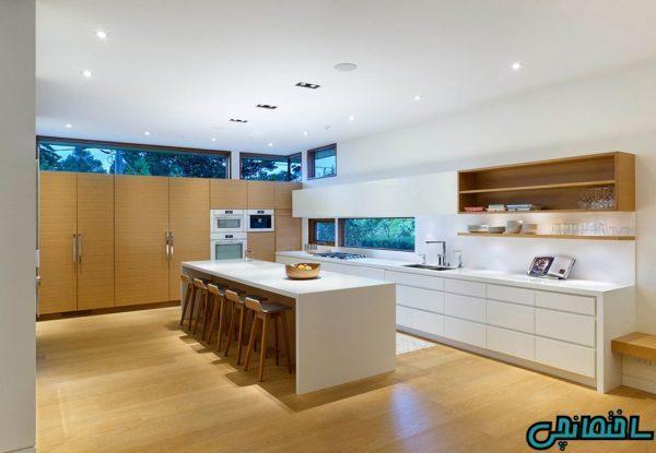 ایده های طراحی آشپزخانه بزرگ و لوکس