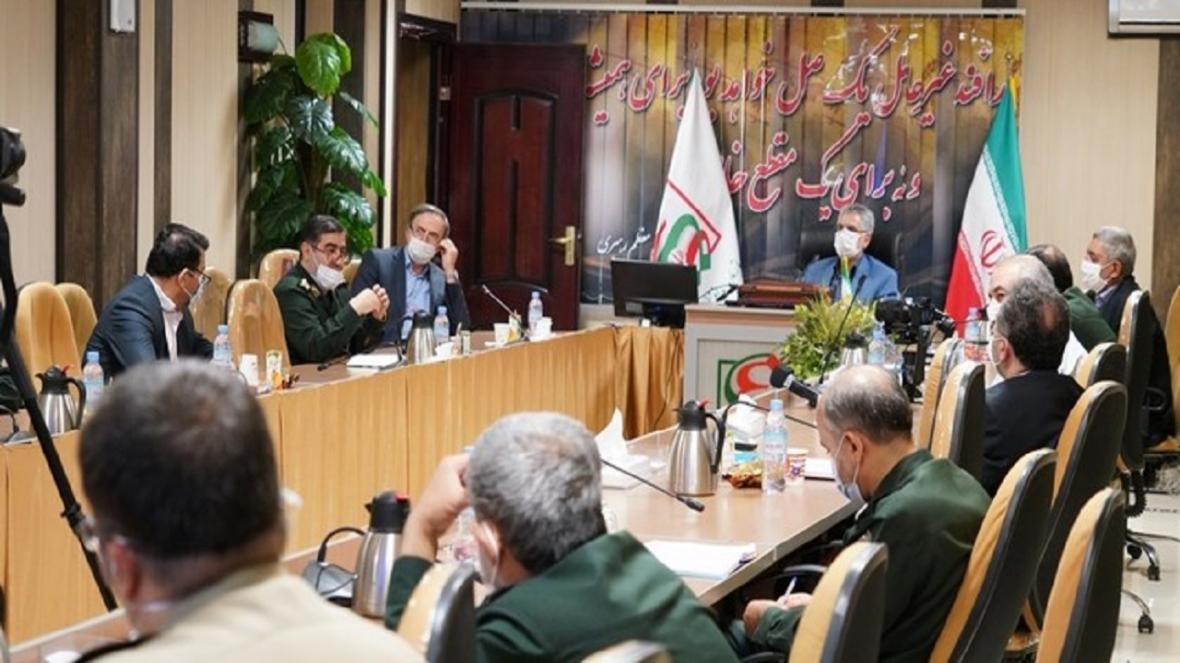 بازدید فرماندهان بهداشت و درمان نیروهای مسلح از قرارگاه پدافند زیستی