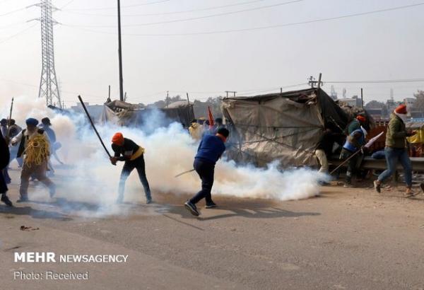 تظاهرات کشاورزان در دهلی به خشونت کشیده شد