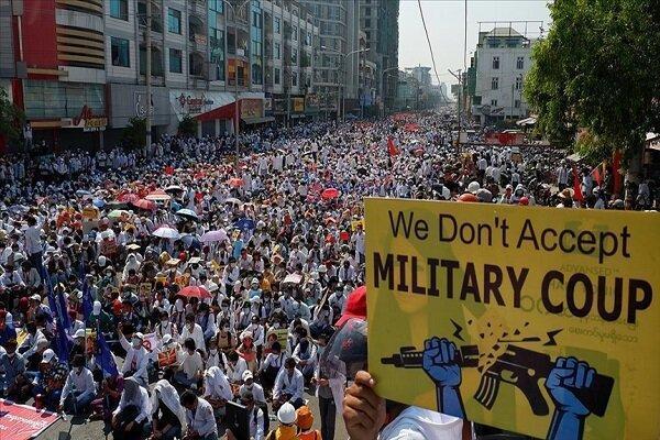 18 نفر در حمله نیروهای امنیتی به معترضان در میانمار کشته شدند