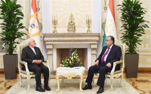 محمد جواد ظریف با رئیس جمهور تاجیکستان ملاقات کرد