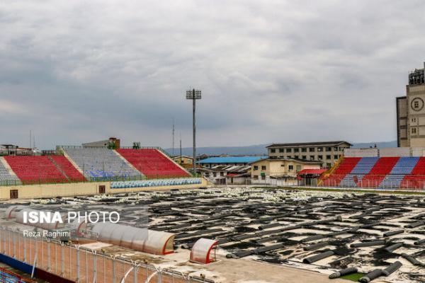 پروژه تعویض چمن استادیوم شهید وطنی همچنان روی هوا